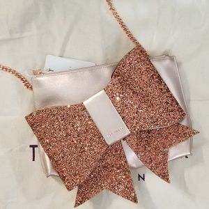 🍒NWT🍒 TED BAKER OVERSIZED BOW CLUTCH